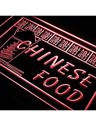 s208 Chinese Restaurant Thanks Food Neon Light Sign