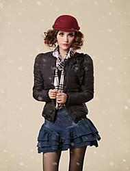 FuRuiXiang® Women's 90% White Duck Down Jacket Slim Keep Warm Outerwear