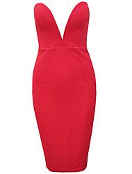 Women's Dresses , Cotton Blend Casual Orange
