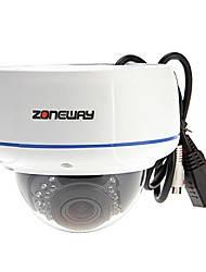 ZONEWAY NC957MV-P Outdoor WDR 3.0MP Vandal-proof IP Dome Camera(PoE, TF Card Storage, Onvif)