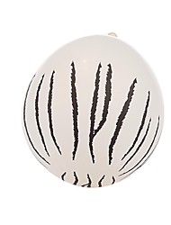 Halloween Large White Spots Balloon  Decoration-Set of 24