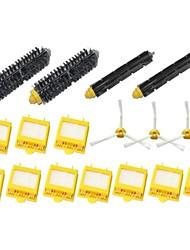 3-Armed Side Brush & Hepa Filters & Bristle Brush & Flexible Beater Brush Pack Kit for iRobot Roomba 700 Series