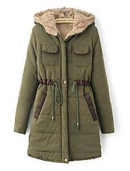 Coko&De женщин новые осень зима западная высший сорт хлопка способа тонкий балахон средней длины