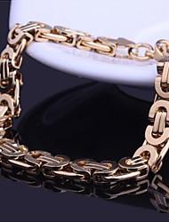 herenmode persoonlijkheid gouden titanium stalen armbanden