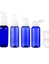 6Pcs Blue Shading Lightness Travel Cosmetics Bottle Set