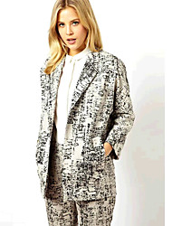 режиме размер женщин La геометрический узор длинный рукав костюм пиджак