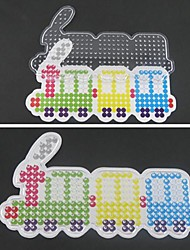 1PCS Template Clear Perler Beads Pegboard Colorful Train Pattern for 5mm Hama Beads Fuse Beads