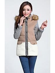 Z.Y.P Women's Western Cotton Slim Thickening Medium Long Coat