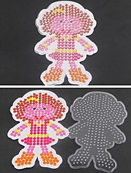 1PCS Template Clear Perler Beads Pegboard Girl Daughter Pattern for 5mm Hama Beads Fuse Beads