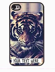 Personalized Case Tiger Design Metal Case for iPhone 4/4S