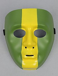 cool man hip-hop masque en pvc vert et jaune