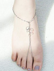 Women's Leaves Anklets