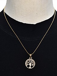 Polished Tree Monogram Necklace