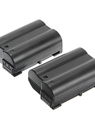 OEM-Nik EN-EL15 1900mAh 7V Batteries for Nikon D7000/D7100/1V1/D800/D800E/D600/P520/P530(2 batteries)