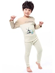 Boy's Fashion And Comfortable Thickening Thermal Underwear Clothing Set