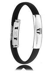 Herrenmode Persönlichkeit Titan Stahl Silikon zwölf Sternbild Waage Armbänder