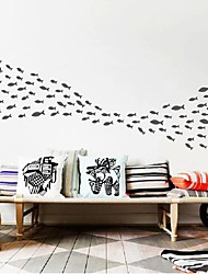 Wall Stickers Wall Decals, Modern Happy fish PVC Wall Stickers