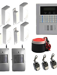 Quad-Band GSM PSTN Wireless Wired Home Security Alarm Burglar Autodial System