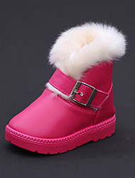 Girls'Shoes Comfort Snow Boots Flat Heel Mid-Calf Boots with Buckle More Colors available