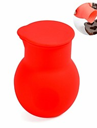 DIY Mini Chocolate Melting Pot, Silicone Material, Dia. 5.5cm, Red Color