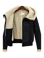 Women Lamb Fur Outerwear , Hoodie/Fleece Lining