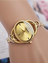 Mulheres Relógio de Moda Quartzo PU Banda Brilhante Preta Branco Vermelho Laranja Dourada Branco Preto Laranja Vermelho Dourado
