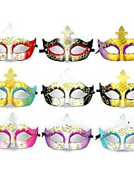 Flash Plastic Material Fancy Dress Party Halloween Mask (Random Color)
