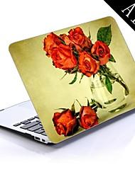 hermosas rosas diseño de papel tapiz de cuerpo completo caja de plástico protectora para el de 11 pulgadas / 13 pulgadas libro de aire nuevo mac