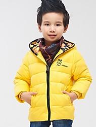 Boy's Fashion Back Letter Long Sleeved Coat
