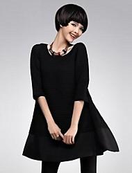 Women's Contrast Color A Line Mini Dress (More Colors)