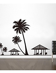 Wall Stickers Wall Decals, Seaside Coconut Home Decoration Poster PVC Wall Stickers