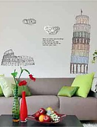 Wall Stickers Wall Decals, Pisa Tower Home Decoration Poster PVCWall Stickers