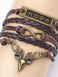 Touw Dames Chain/Gepersonaliseerde Armbanden Geen Steen