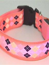 Cat / Dog Collars LED Lights Red / Pink Nylon