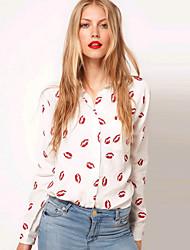 causual camisa chiffon impressão floral das mulheres manni