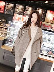 la moda de las mujeres abrigo suelto