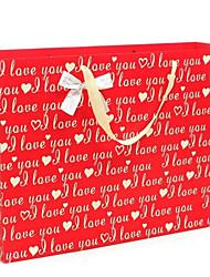 inglês letras de cor creme de eu te amo padrão vermelho sacos do presente