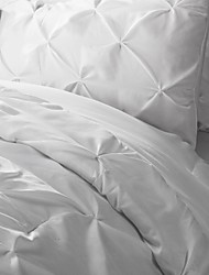 Duvet  Cover And Shams Based On Soft Fabric With Uniform Twisting By Hand  On Top.