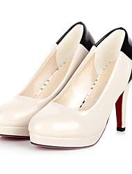 Zapatos de mujer - Tacón Stiletto - Tacones / Punta Redonda - Tacones - Casual - Semicuero - Negro / Beige / Naranja