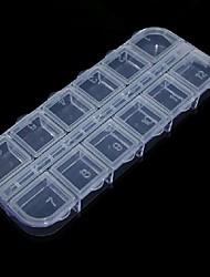 2x6 nail art plastique transparent cellule de pointe boîte de rangement vide outil de cas