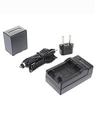 ismartdigi-sony np-FV100 (3900mah, 7.2v) câmera bateria + EU Plug + carro carregador para cx700e / pj50e / 30e / 10e / cx180e / VG10E / FV70