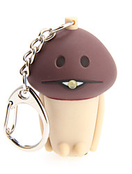 Cartoon Mushroom LED Light with Sound Effects Keychain
