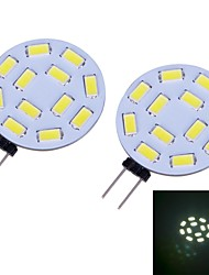 Luces de Doble Pin G4 W 12 SMD 5730 460 LM 6000~6500 K Blanco Fresco DC 12 V