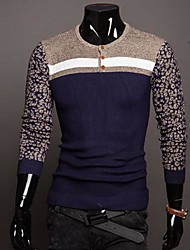 Men's Wear Leopard Round Neck Long Sleeve Sweater