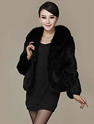 Fur Coats Fur Jacket Women's Fashion Slim Fur Jacket (More Colors)