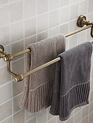 Double Towel Bar,Antique Brass Finish Brass Material,Bathroom Accessory