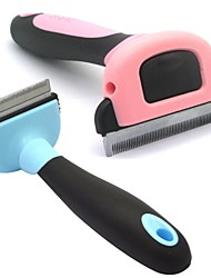 Dele Metal Blade Short Tiny Hair Shedding Grooming Comb Brush Fur Rake for Pet Dog Cats -(50mm)