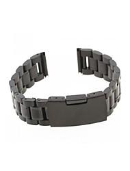 Men Women 18mm Black Steel Watch Band Strap Bracelet Universal High Quality