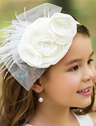 Women's/Flower Girl's Tulle/Silk Headpiece - Wedding/Special Occasion Flowers