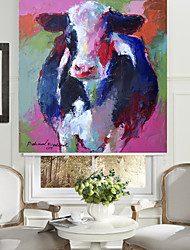 stile astratto pittura ad olio rullo mucca ombra